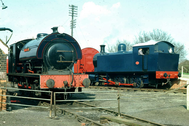 Locomotives at Chappel and Wakes Colne, 1976