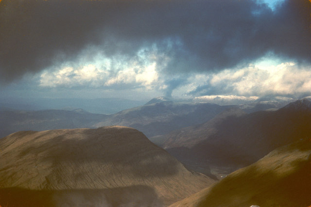 Meall Mor and Glencoe from Sgurr na h-Ulaidh