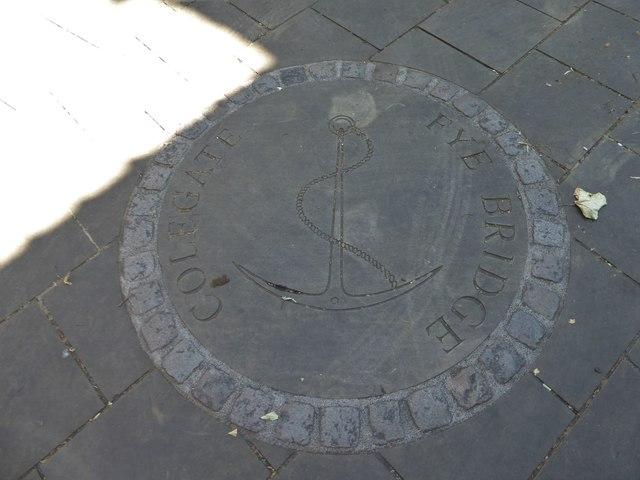 Boundary marker outside St Clement at Fyebridge