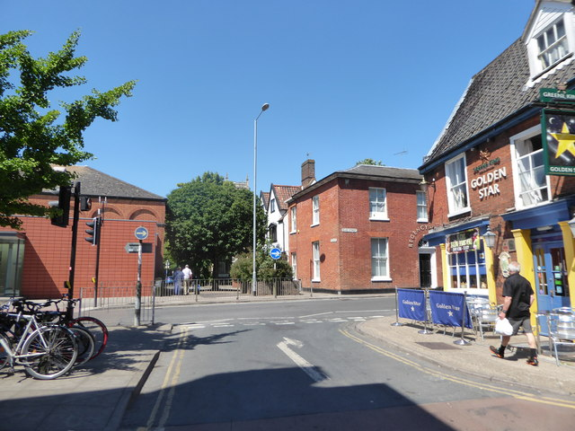 Approaching the junction of Colegate and Duke Street