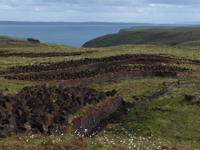 Peat cutting, Bhinndean, Isle of Lewis