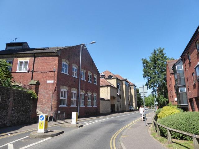 Looking north-west in Westwick Street