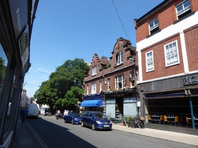 Looking westwards in St Benedict's Street