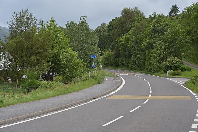 The A828 entering Kentallen