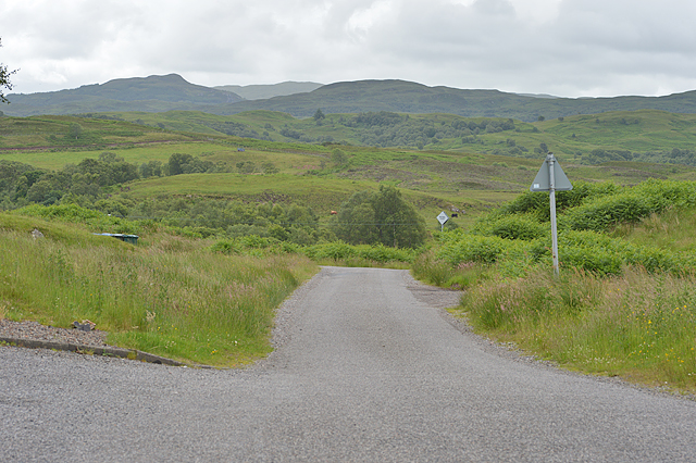 Minor road heading south from Connel
