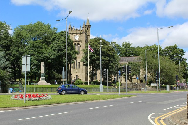 St Mary's and All Saints church and the War Memorial