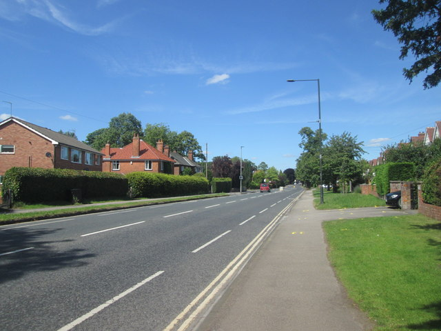 Tadcaster Road at Dringhouses, towards York