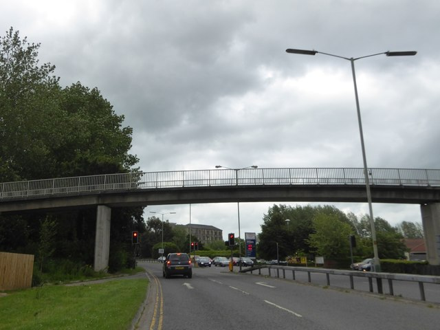 Footbridge over County Way, Trowbridge inner bypass