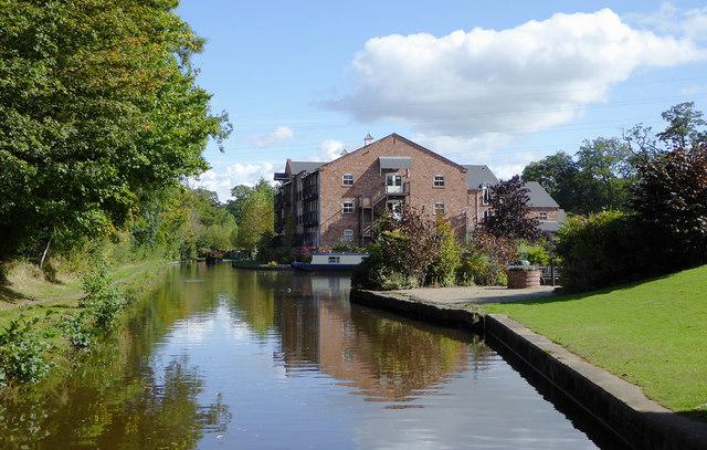 Llangollen Canal south-east of Preesgweene, Shropshire