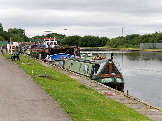 Narrowboat and Barges on the Aire and Calder Navigation at Goole