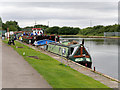 SE7322 : Narrowboat and Barges on the Aire and Calder Navigation at Goole by David Dixon