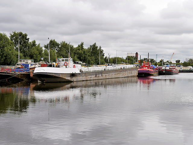 Canal Barge on the Aire and Calder Navigation at Goole