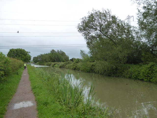 Power lines over Kennet and Avon Canal