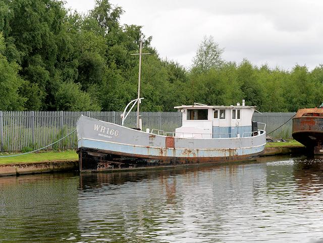 Ex-British Waterways Boat Moored at Goole