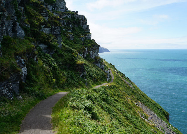 The South West Coast Path on the way to the Valley of Rocks