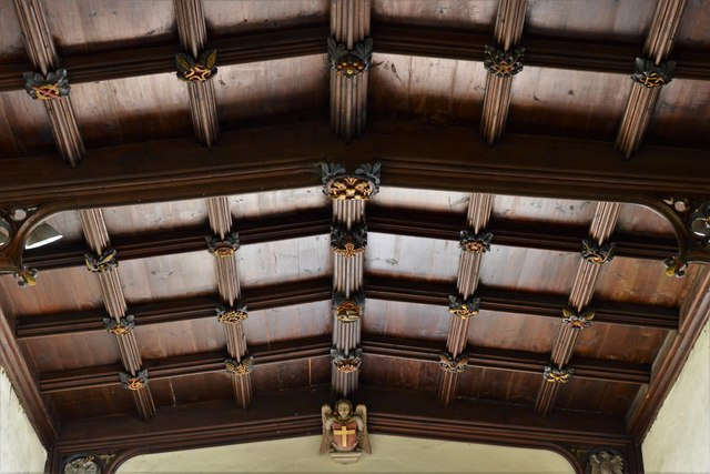 Rendcomb, St. Peter's Church: The chancel roof