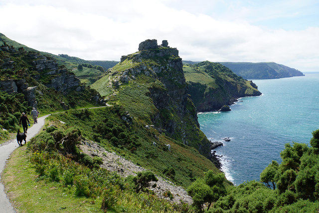 The coast path approaching the Valley of Rocks