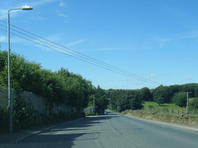 Swales Moor Road looking north