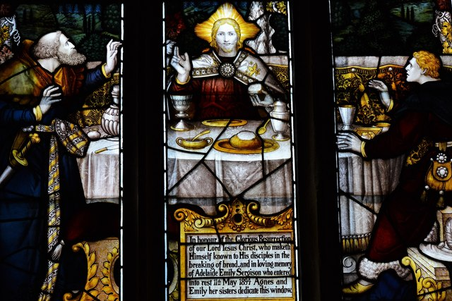 Rendcomb, St. Peter's Church: Stained glass window