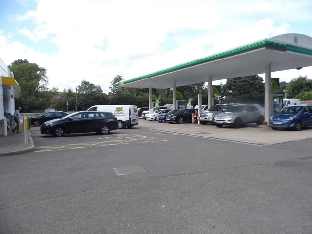 BP petrol station on the Farnham Bypass
