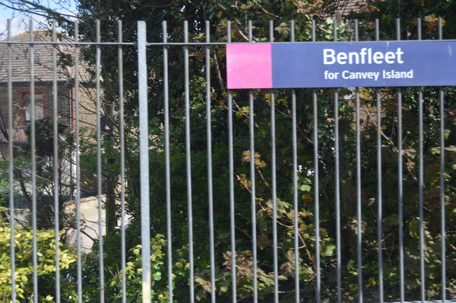 Sign on Benfleet Station