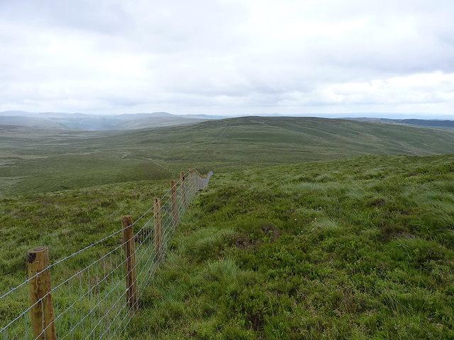 Fenceline down to Mynydd Coch