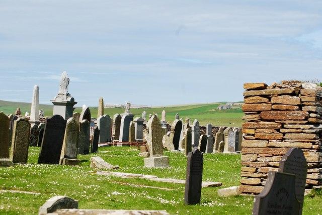 Cemetery in Orphir