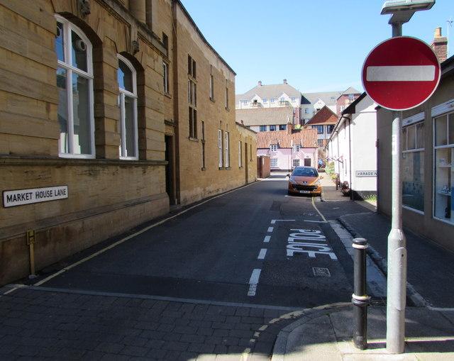 North along Market House Lane, Minehead