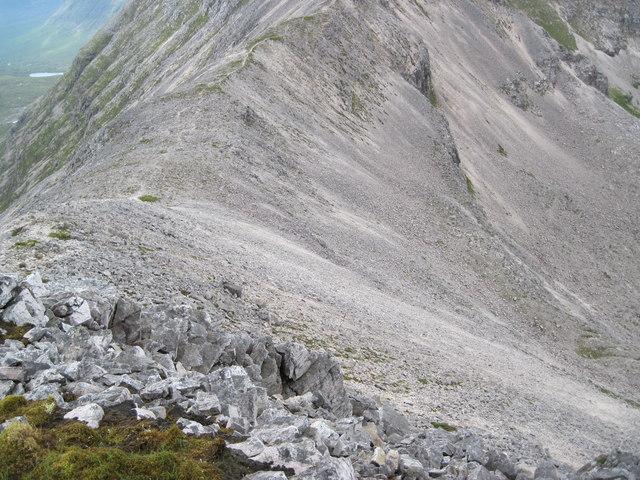 Ben Eighe Ridge towards Còinneach Mhòr
