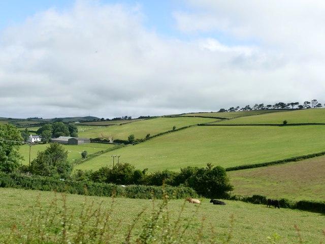 Farmland below Barony Hill