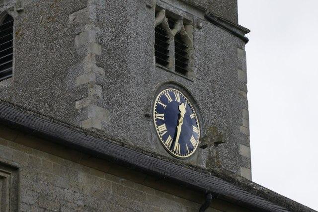 Clock on St Mary