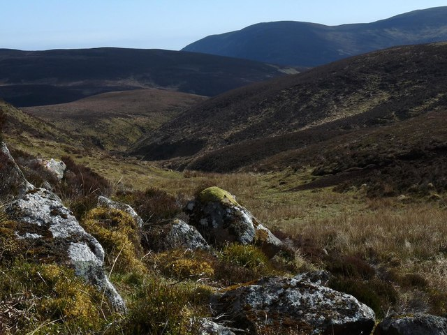Rocks above the Allt Bad na Muislich, Sutherland