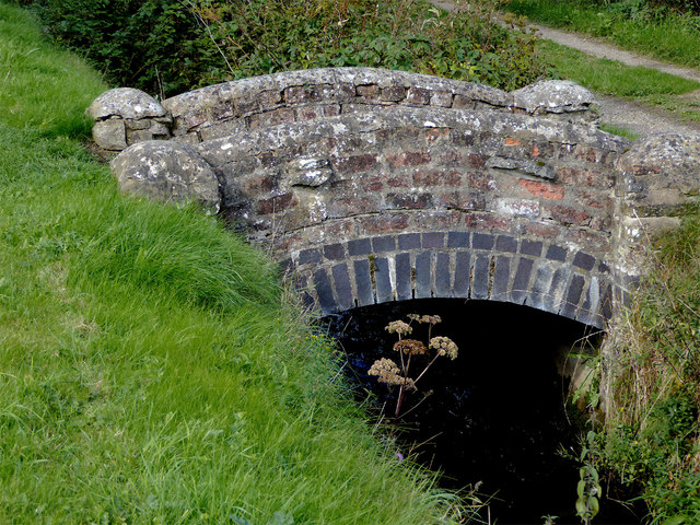 Mini bridge across New Marton Top Lock overflow, Shropshire