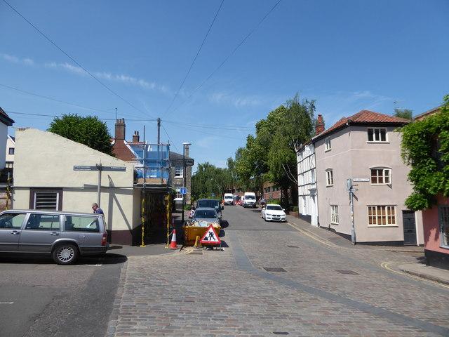 Looking westwards in Pottergate
