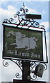 ST6883 : Lamb Inn name sign, Iron Acton by Jaggery