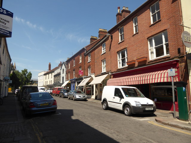 Looking westwards in Upper St Giles Street