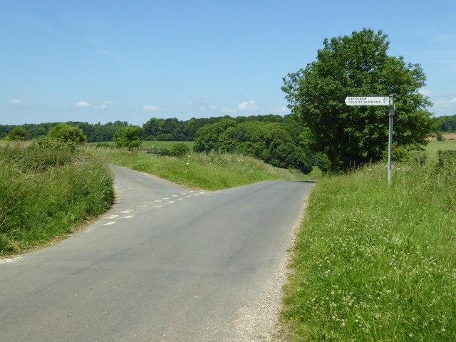 Road junction near Eastleach Turville