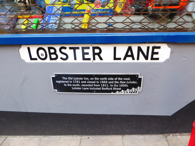 Lobster Lane- street signs
