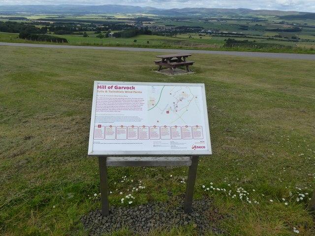 Hill of Garvock information board