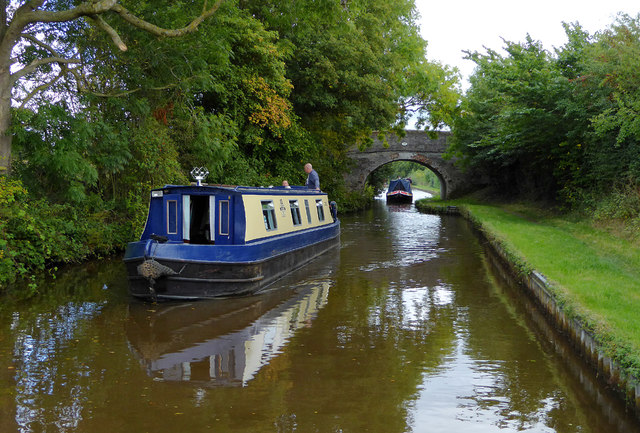 Llangollen Canal east of Hindford in Shropshire