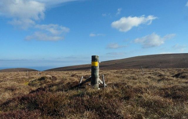 Fence below Cnoc Coir' a' Phuill, Caithness