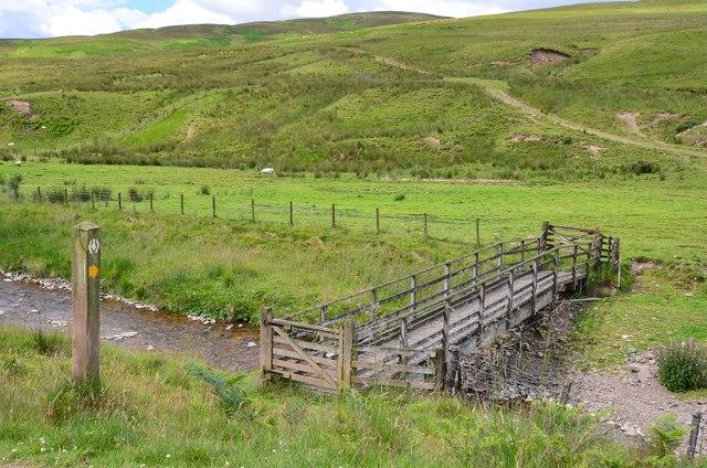 Southern Upland Way footbridge, Craighope