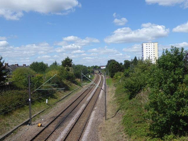 View of the railway from Brick Lane bridge