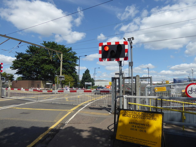 The level crossing at Brimsdown station