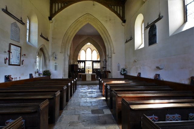 Stanton Harcourt, St. Michael's Church: The Norman nave