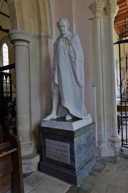Stanton Harcourt, St. Michael's Church: Field Marshal William Harcourt statue 1