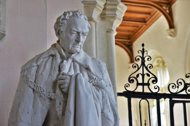 Stanton Harcourt, St. Michael's Church: Field Marshal William Harcourt statue 3