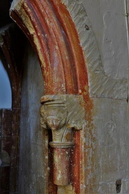 Stanton Harcourt, St. Michael's Church: Chancel paint scheme remnants