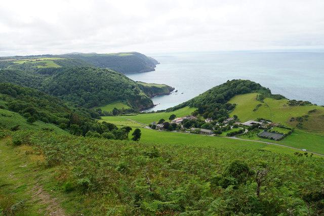 Hillside path above Lee Abbey