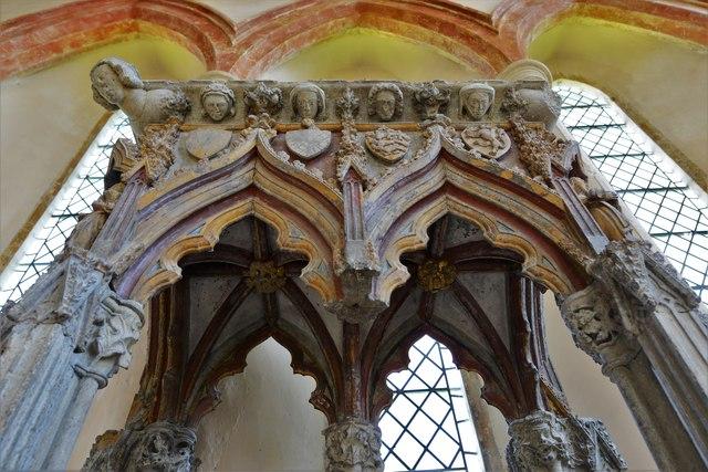 Stanton Harcourt, St. Michael's Church: The c1300 Shrine of St. Edburg 2
